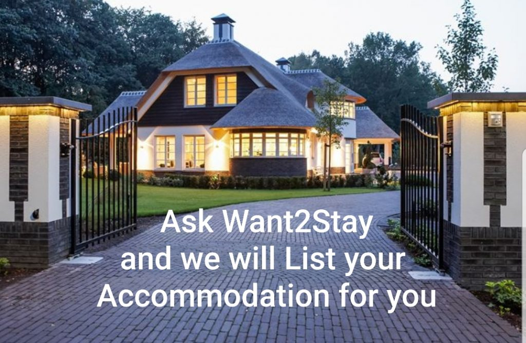Ask us to list your accommodation