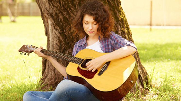 Start playing guitar, be creative